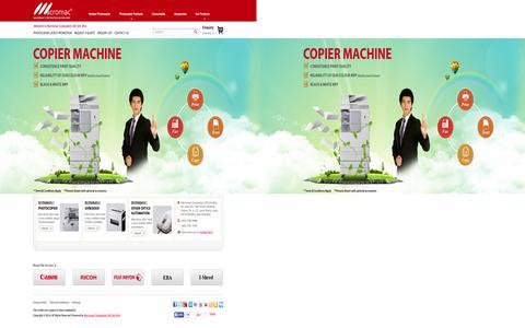 Screenshot of Home Page maccorp.com.my - Photocopier Malaysia   Photocopier Dealers    Rental Photocopier Machine    Canon Photocopier Malaysia    Photocopier Machine    Photocopier Rental    Photocopier Lease    Photocopier Purchase    Reconditioned Photocopiers - captured Sept. 16, 2015