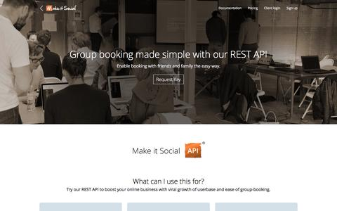 Screenshot of Developers Page makeitsocial.com - Make it Social | Developers - captured May 27, 2017