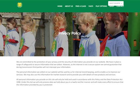 Screenshot of Privacy Page teddytennis.com - Privacy Policy | Teddy Tennis - Children's Tennis Lessons - captured June 8, 2018
