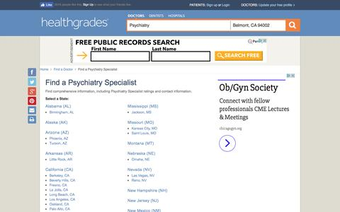 Psychiatry - State Directory
