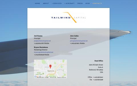 Screenshot of Contact Page tailwindcapital.net - Contacts — Tailwind Capital - captured Oct. 19, 2017