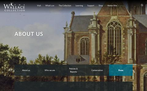 Screenshot of Press Page wallacecollection.org - Press                                                - The Wallace Collection - captured Oct. 18, 2018