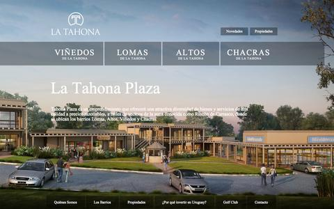 Screenshot of Home Page latahona.com.uy - La Tahona - captured Oct. 1, 2014