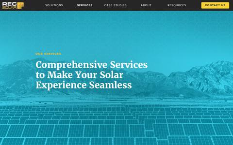 Screenshot of Services Page recsolar.com - REC Solar Service Offerings - captured June 8, 2017