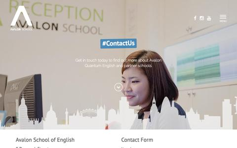 Screenshot of Contact Page avalonschool.co.uk - Contact Us - captured Nov. 21, 2016