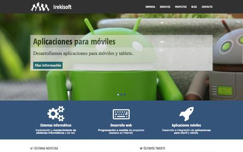 Screenshot of Home Page irekisoft.net - Irekisoft - Servicios informáticos en Barakaldo. Software libre // Mantenimiento informático // Diseño y programación web. - captured Sept. 30, 2014