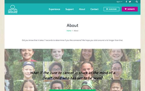 Screenshot of About Page aspencamp.org - About » Aspen Camp - captured Oct. 4, 2018