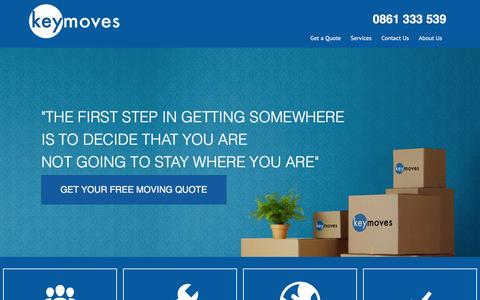 Screenshot of Home Page keymoves.co.za - Key Moves Furniture Removals - captured Feb. 12, 2016
