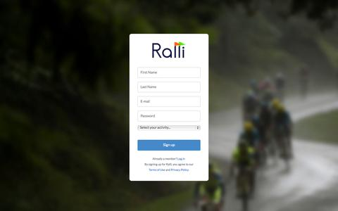 Screenshot of Signup Page getralli.com - Ralli - Sign up - captured Nov. 4, 2014