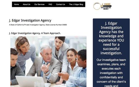 Screenshot of Home Page jedgarpi.com - Home - J. Edgar Investigation Agency - captured Sept. 29, 2017