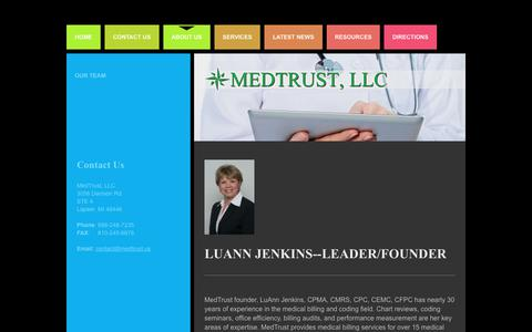 Screenshot of About Page medtrust.us - About Us | Medical Billing & Consulting - captured Oct. 18, 2017