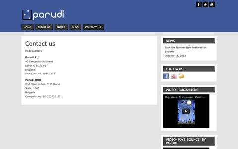 Screenshot of Contact Page parudi.com - Contact Us | Parudi - captured Sept. 17, 2014