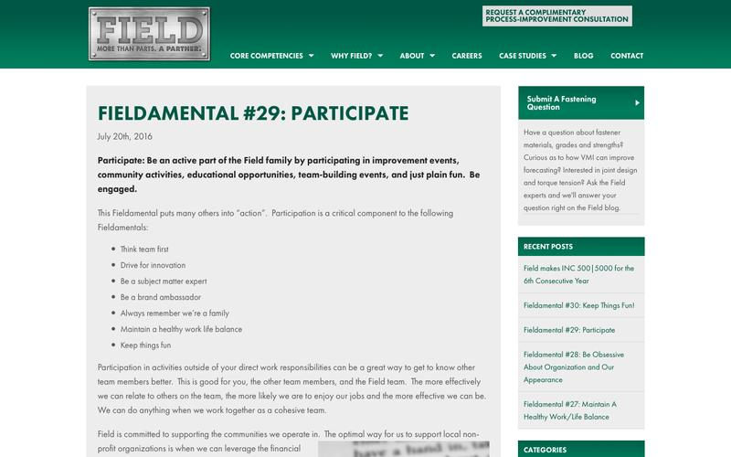 Fieldamental #29: Participate - Field Fastener
