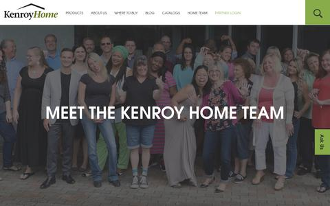 Screenshot of About Page kenroyhome.com - MEET THE KENROY HOME TEAM - Kenroy Home - captured June 9, 2017