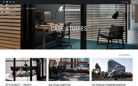 Screenshot of Case Studies Page criterionindustries.com.au - Case Studies - Criterion Industries - captured Nov. 5, 2018