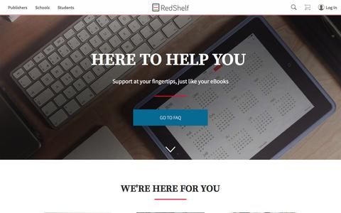 Screenshot of Support Page redshelf.com - Support RedShelf - captured May 9, 2017
