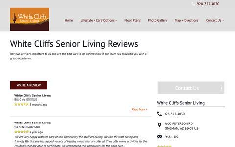 Screenshot of Testimonials Page milestoneretirement.com - Senior Living Resources | White Cliffs Senior Living - captured Oct. 24, 2018