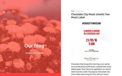 Screenshot of Blog chocolatecitygroup.com - Blog - captured July 13, 2016