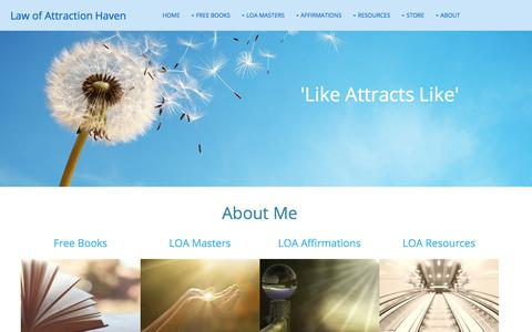 Screenshot of About Page law-of-attraction-haven.com - About Me - captured Sept. 22, 2018