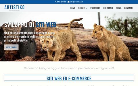 Screenshot of Home Page Privacy Page artistiko.net - Web agency e studio grafico Pesaro | siti web ed e-commerce - captured Nov. 6, 2018