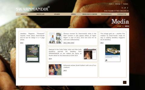 Screenshot of Press Page swarnmandir.com - Swarnmandir - captured Nov. 18, 2016