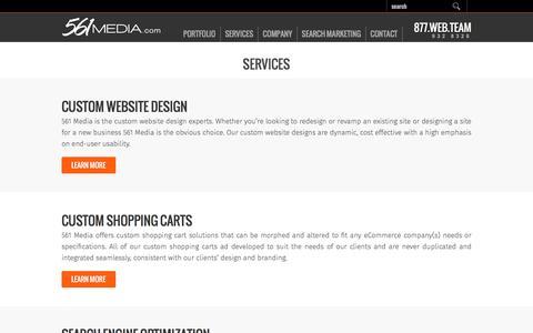 Screenshot of Services Page 561media.com - Website Design & SEO Services in Boca Raton Florida | 561 Media - captured Nov. 13, 2016