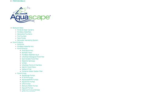 Screenshot of About Page aquascapeinc.com - About Aquascape - captured May 16, 2018