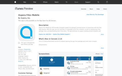 Aspera Files Mobile on the App Store