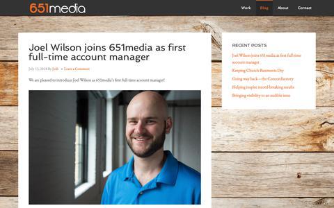 Screenshot of Blog 651media.com - Blog - captured Oct. 20, 2018