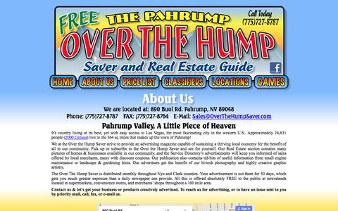 Screenshot of About Page overthehumpsaver.com - Over the Hump Saver May 2015 - captured June 22, 2016