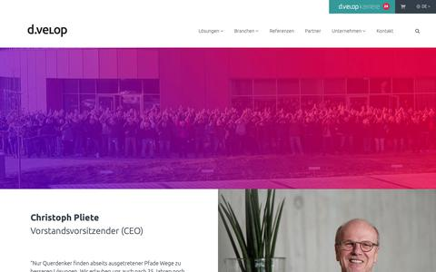Screenshot of Team Page d-velop.de - d.velop AG Management - das Team hinter dem Team | d.velop - captured Sept. 29, 2018