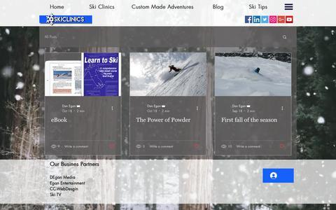 Screenshot of Blog skiclinics.com - Skiclinics | Blog - captured Nov. 15, 2018