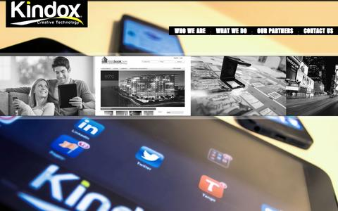 Screenshot of Contact Page kindox.com - Kindox - Branding Design and Production Products - captured Oct. 6, 2014