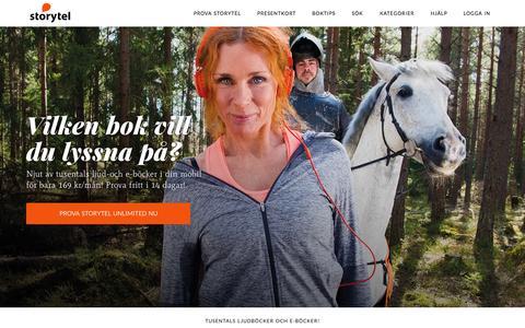 Screenshot of Home Page storytel.se - Storytel - Ljudböcker & E-böcker i mobilen - captured Nov. 19, 2015