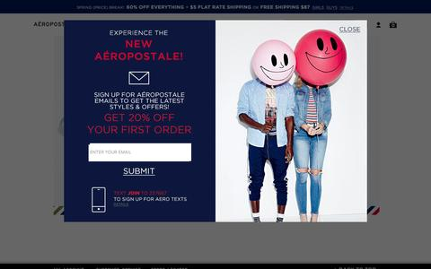 Screenshot of Support Page aeropostale.com - Aero Helpdesk - Aeropostale - captured April 11, 2017