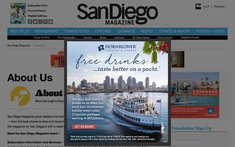Screenshot of About Page sandiegomagazine.com - About Us - San Diego, California - captured Oct. 27, 2015