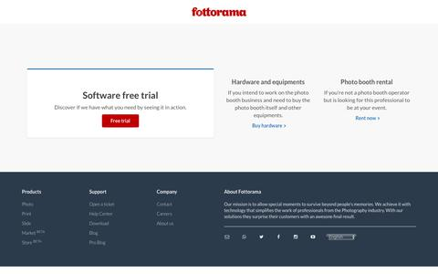 Screenshot of Trial Page fottorama.com.br - Fottorama - Free trial - Fottorama - captured Oct. 11, 2018