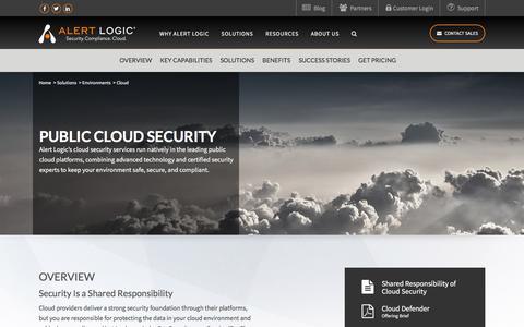 Cloud Security Services – Security As A Service Cloud   Alert Logic