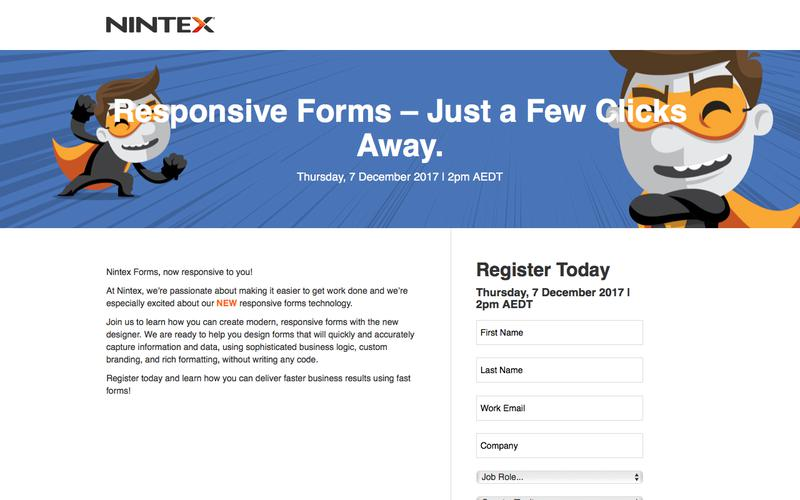 Responsive Forms – Just a Few Clicks Away.