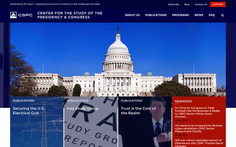 Screenshot of Login Page thepresidency.org - CSPC | Center for the Study of the Presidency & Congress - captured Oct. 2, 2014