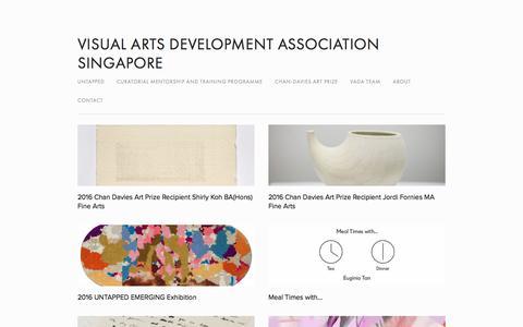 Screenshot of Home Page vada.org.sg - Visual Arts Development Association Singapore - captured Nov. 30, 2016