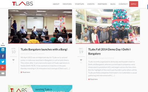 Screenshot of Blog tlabs.in - Blog | TLABS - captured Feb. 21, 2016