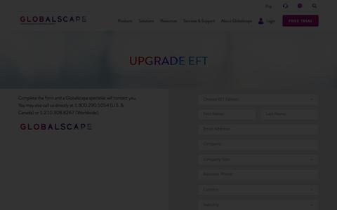 Upgrade EFT | Globalscape