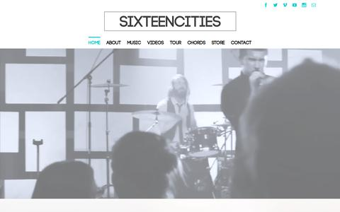 Screenshot of Home Page sixteencities.com - HOME PAGE - Sixteen Cities - captured Oct. 9, 2015