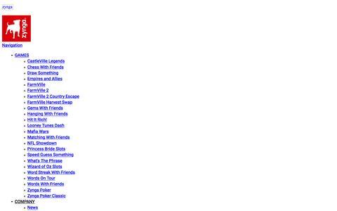 Screenshot of Contact Page zynga.com - Contact Us | Zynga - captured Feb. 25, 2016