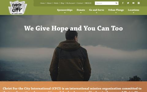 Screenshot of About Page cfci.org - International Mission Organization   Christ for the City - captured Nov. 5, 2016