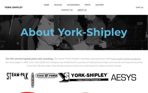 Screenshot of About Page aesystech.com - History of York-Shipley Boilers - York-Shipley - captured Feb. 15, 2018