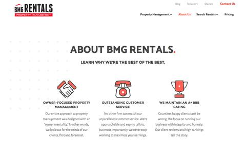 Screenshot of About Page bmgrent.com - About Us – BMG Rentals Property Management - captured Nov. 21, 2016