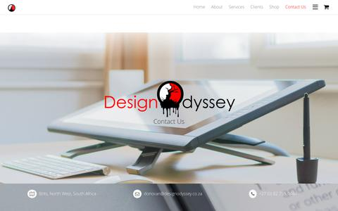 Screenshot of Contact Page designodyssey.co.za - Contact Us - captured June 4, 2017