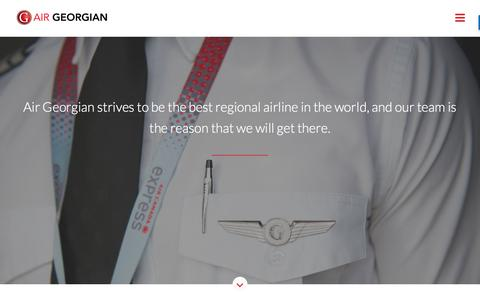 Screenshot of Jobs Page airgeorgian.ca - Air Georgian | Overview of Aviation Career Opportunities - captured Oct. 7, 2017